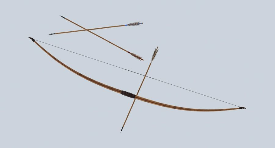 Medieval Bow royalty-free 3d model - Preview no. 13