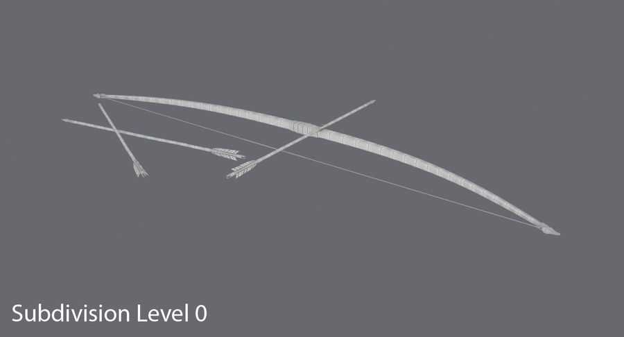 Medieval Bow royalty-free 3d model - Preview no. 16