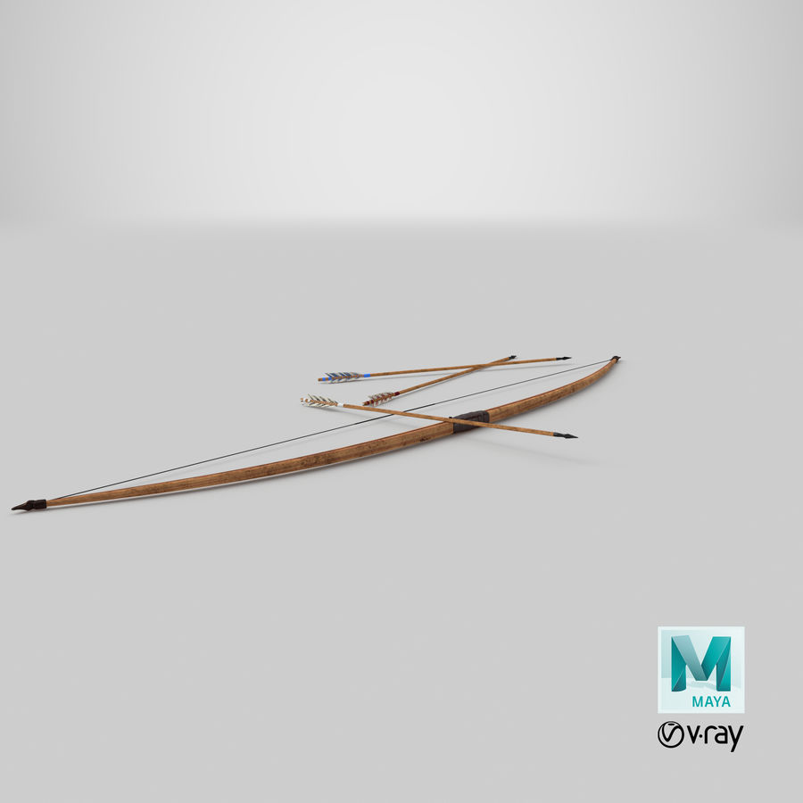 Medieval Bow royalty-free 3d model - Preview no. 21