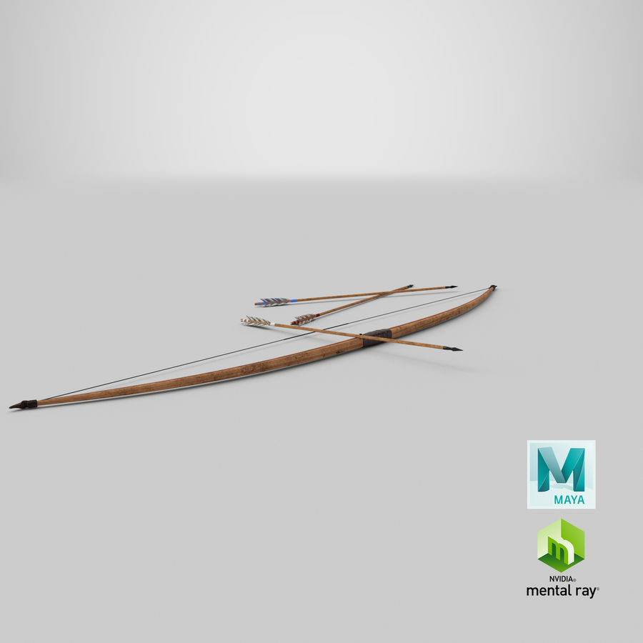 Medieval Bow royalty-free 3d model - Preview no. 22