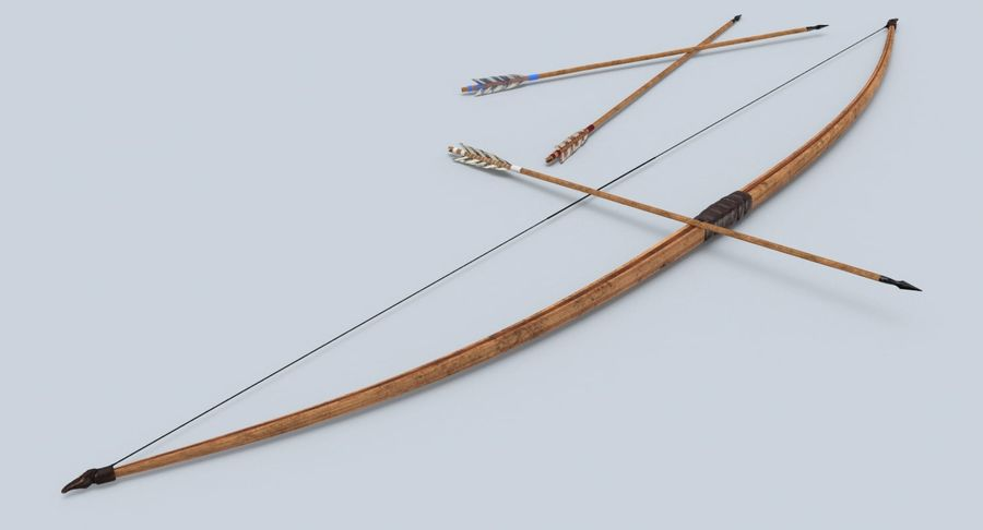 Medieval Bow royalty-free 3d model - Preview no. 8