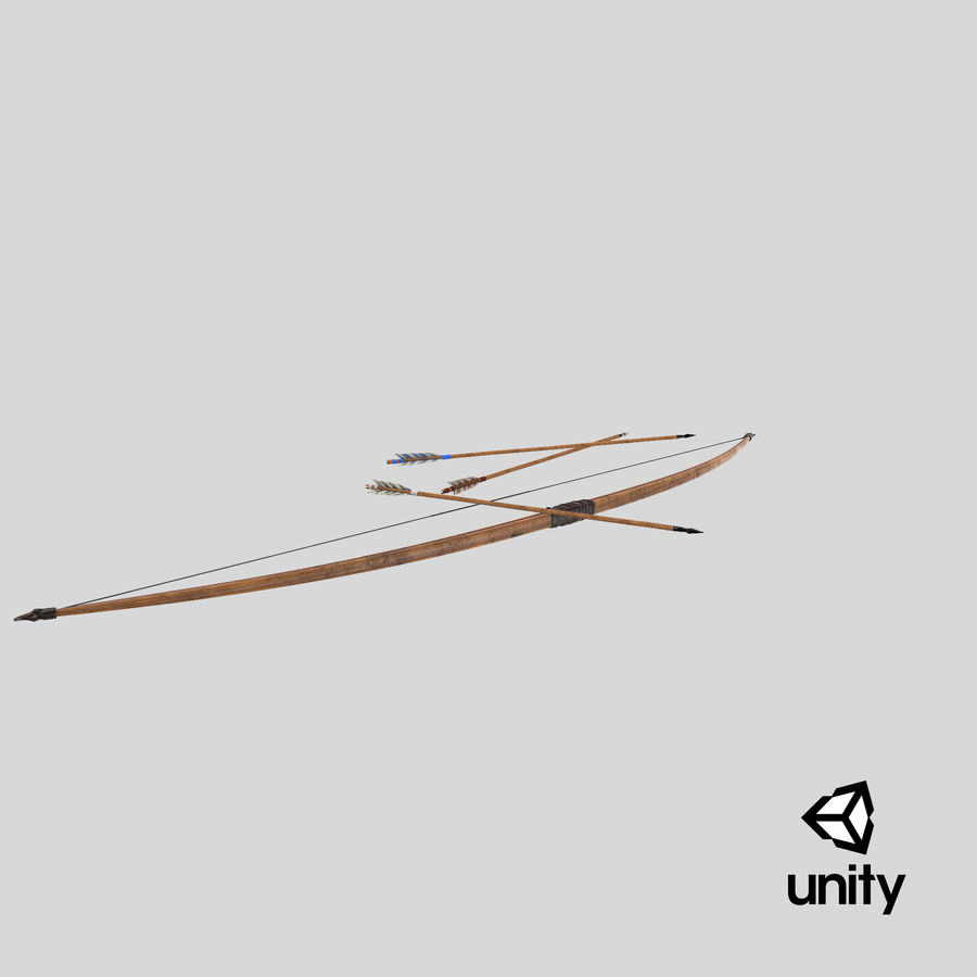 Medieval Bow royalty-free 3d model - Preview no. 27