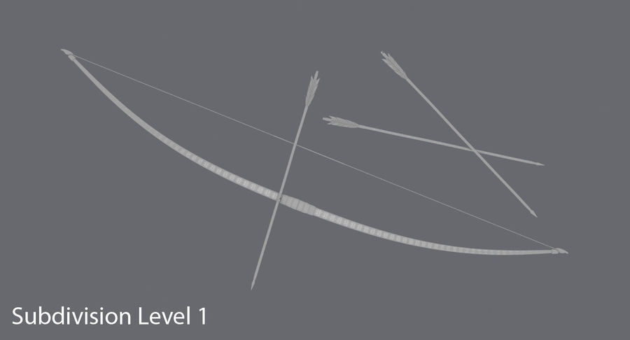Medieval Bow royalty-free 3d model - Preview no. 18