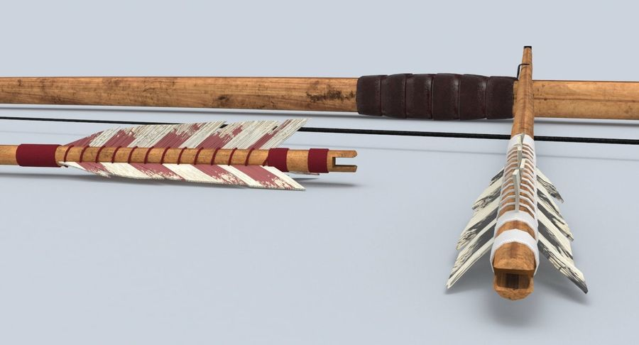 Medieval Bow royalty-free 3d model - Preview no. 10