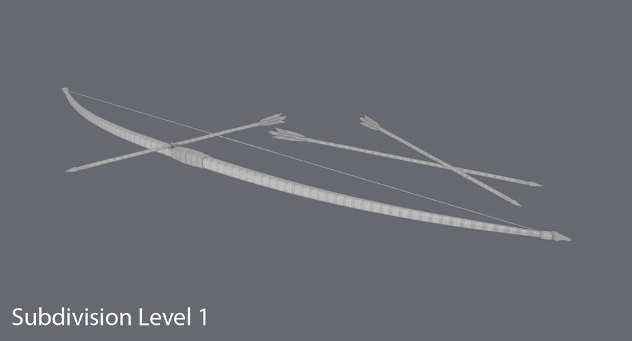 Medieval Bow royalty-free 3d model - Preview no. 17