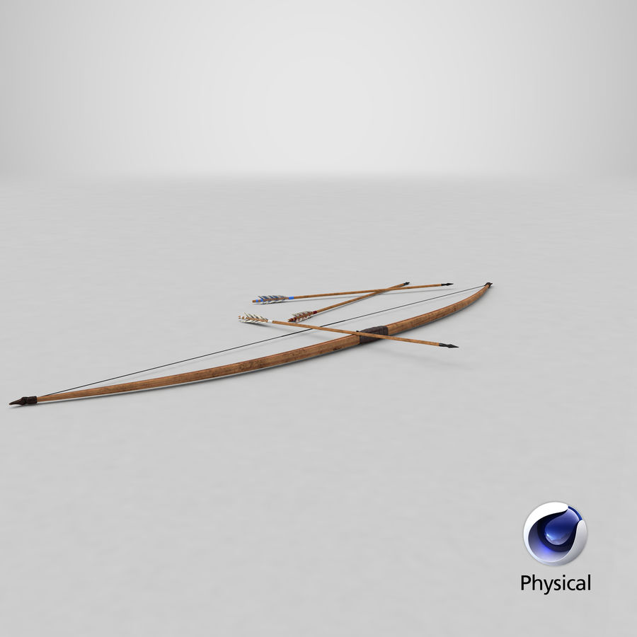Medieval Bow royalty-free 3d model - Preview no. 25