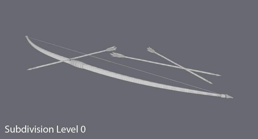 Medieval Bow royalty-free 3d model - Preview no. 14