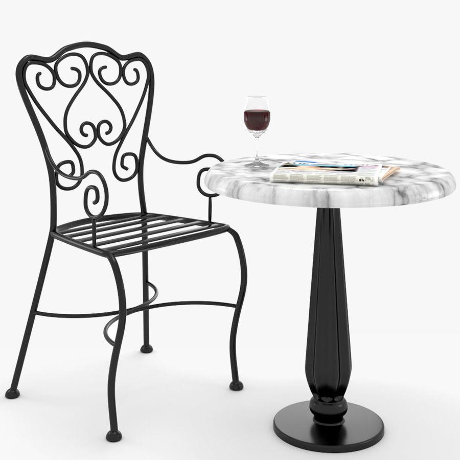 Tisch Und Stuhl Aus Schmiedeeisen Franzosisches Bistro 3d Modell