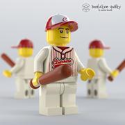 Лего Бейсболист Фигура 3d model