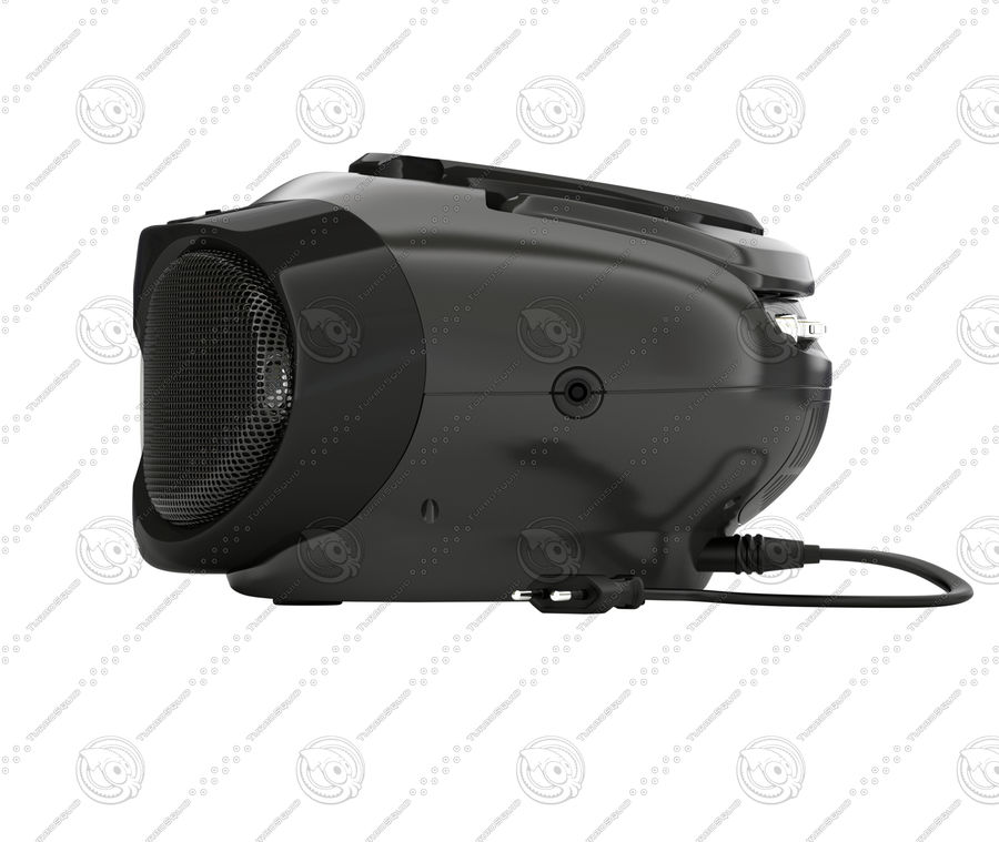 boombox royalty-free 3d model - Preview no. 4