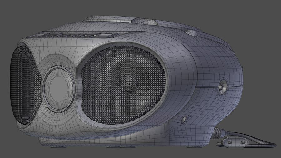 boombox royalty-free 3d model - Preview no. 7