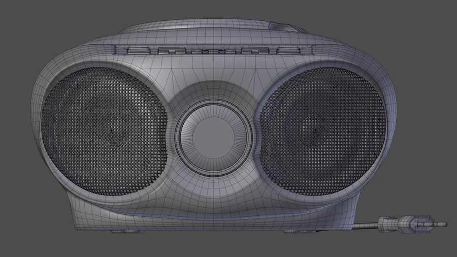 boombox royalty-free 3d model - Preview no. 6
