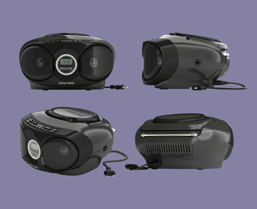 boombox royalty-free 3d model - Preview no. 1
