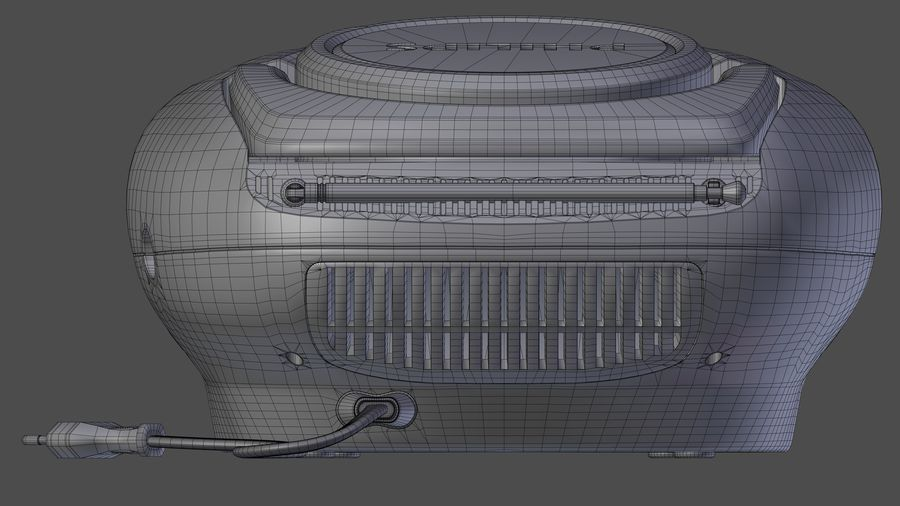 boombox royalty-free 3d model - Preview no. 10