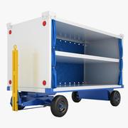 Carrinho de bagagem do aeroporto 10 3d model
