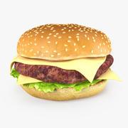 치즈 버거 3d model