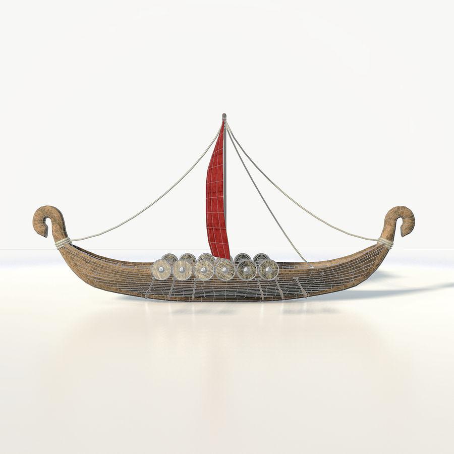 Drakkar 저 폴리 royalty-free 3d model - Preview no. 9