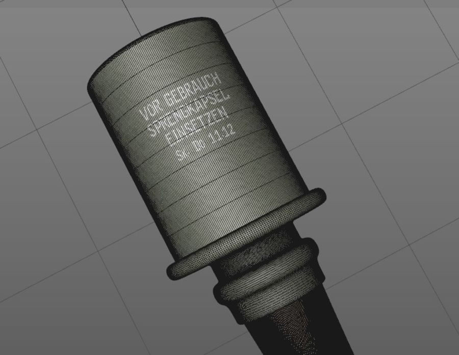 Granat stielhand royalty-free 3d model - Preview no. 5