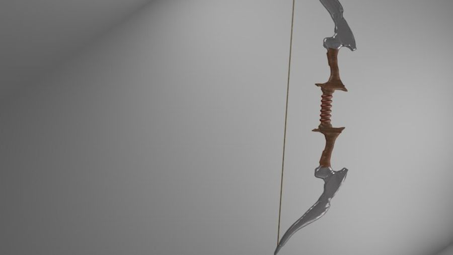 Medieval Bow royalty-free 3d model - Preview no. 1