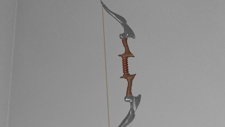 Medieval Bow royalty-free 3d model - Preview no. 2