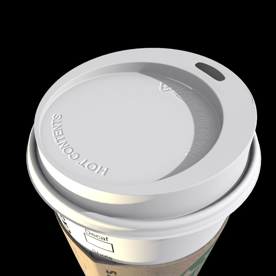 Starbucks Paper Cup royalty-free 3d model - Preview no. 3