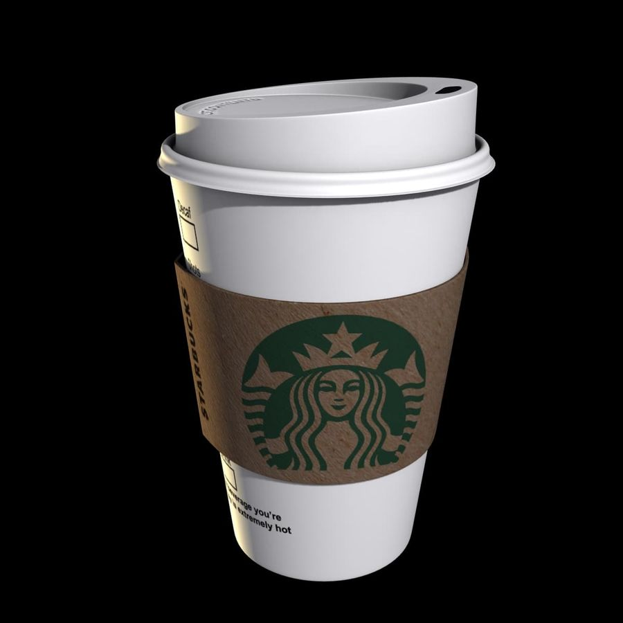 Coupe en papier Starbucks royalty-free 3d model - Preview no. 1