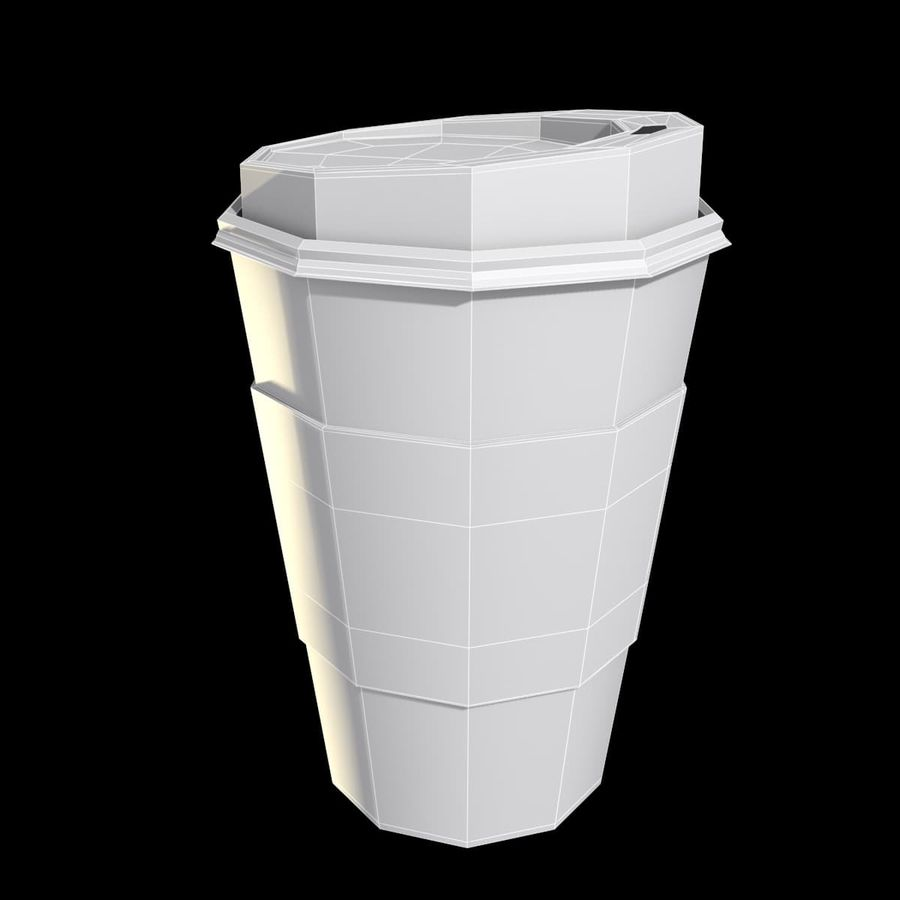 Starbucks Paper Cup royalty-free 3d model - Preview no. 2