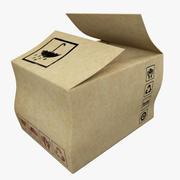 Kartonnen doos V2 3d model