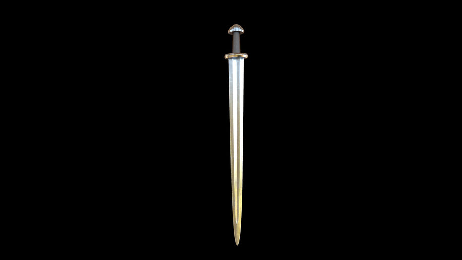 Viking Sword royalty-free 3d model - Preview no. 11
