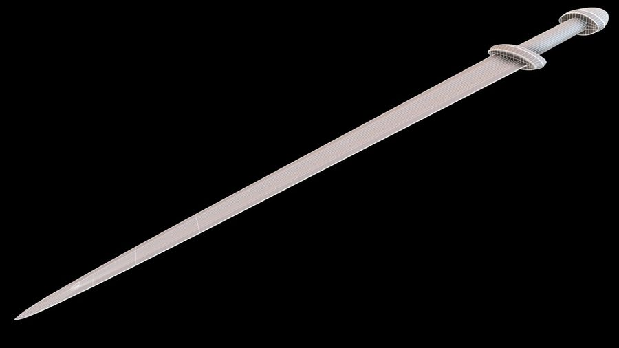 Viking Sword royalty-free 3d model - Preview no. 21