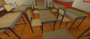 Bureau d'école 3d model
