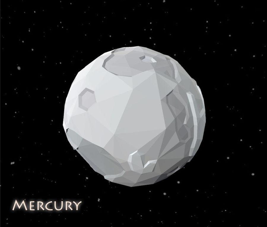 Low Poly Mercury royalty-free 3d model - Preview no. 1