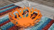Corbeille de fruits, bols 3d model