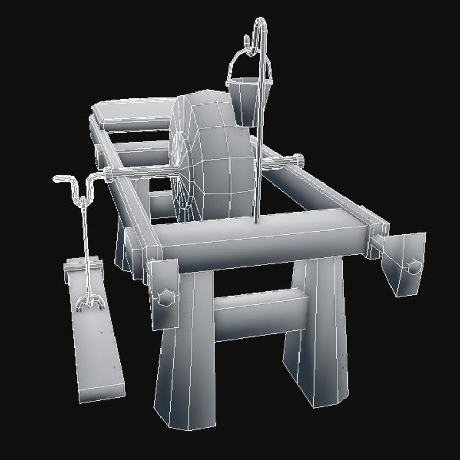 Fabbro Workstation royalty-free 3d model - Preview no. 7