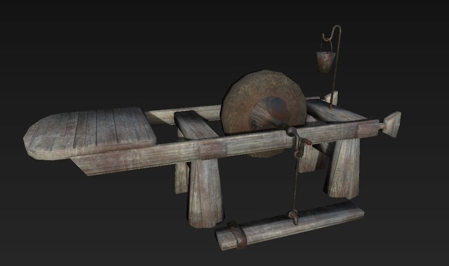 Fabbro Workstation royalty-free 3d model - Preview no. 1