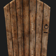 Old wooden doors 3d model