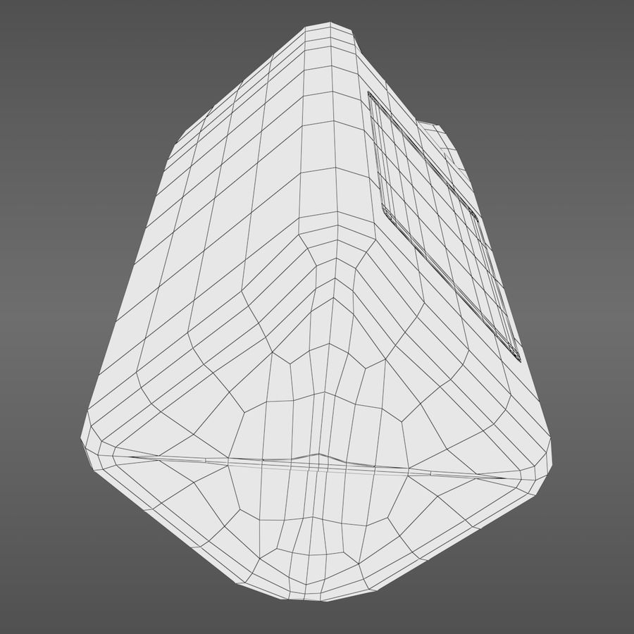 우유 주전자-반 갤런 royalty-free 3d model - Preview no. 13
