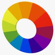 Roda de cores 04 3d model