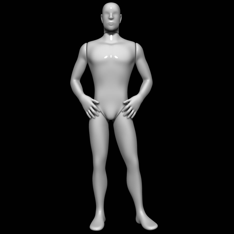 Mannequin homme royalty-free 3d model - Preview no. 1
