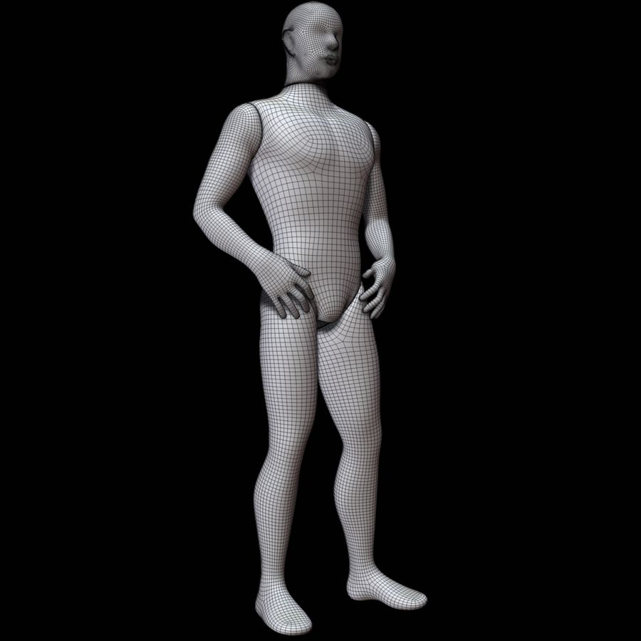 Mannequin homme royalty-free 3d model - Preview no. 14
