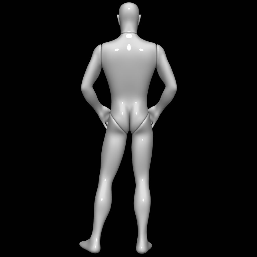 Mannequin homme royalty-free 3d model - Preview no. 5
