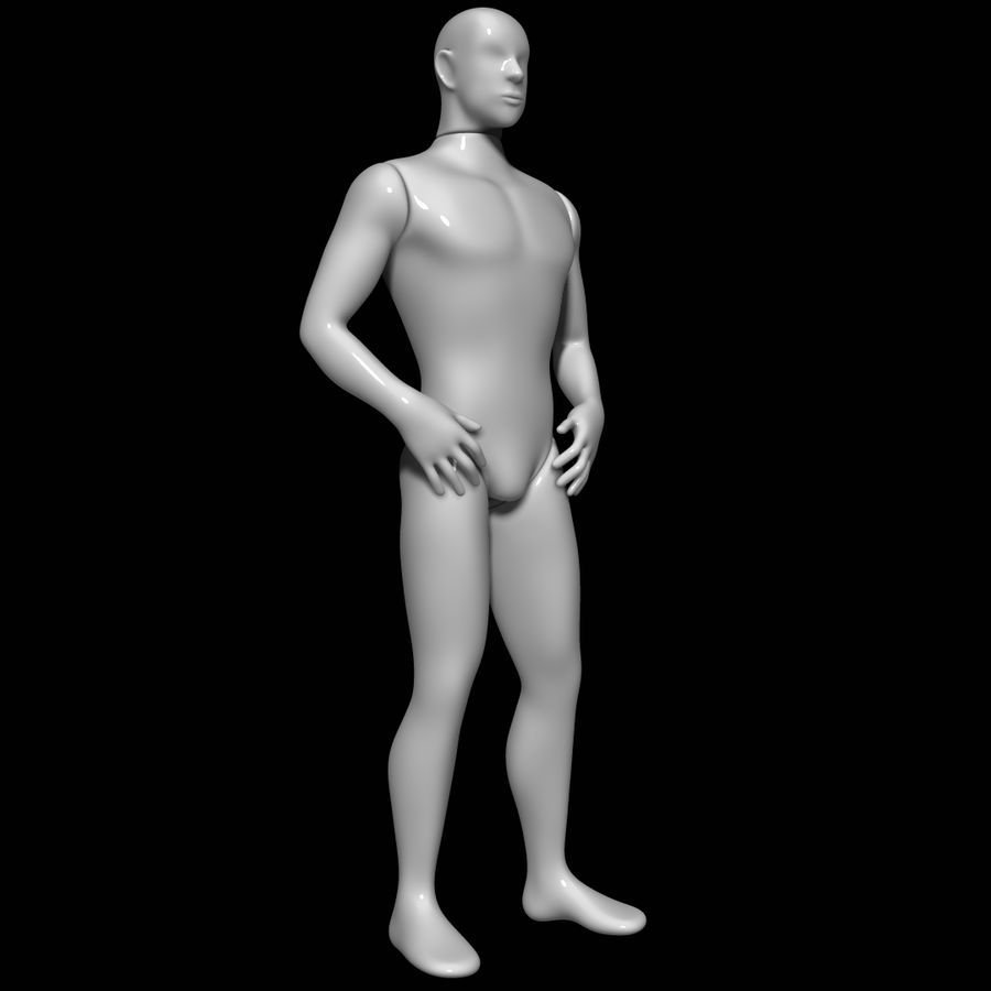 Mannequin homme royalty-free 3d model - Preview no. 2