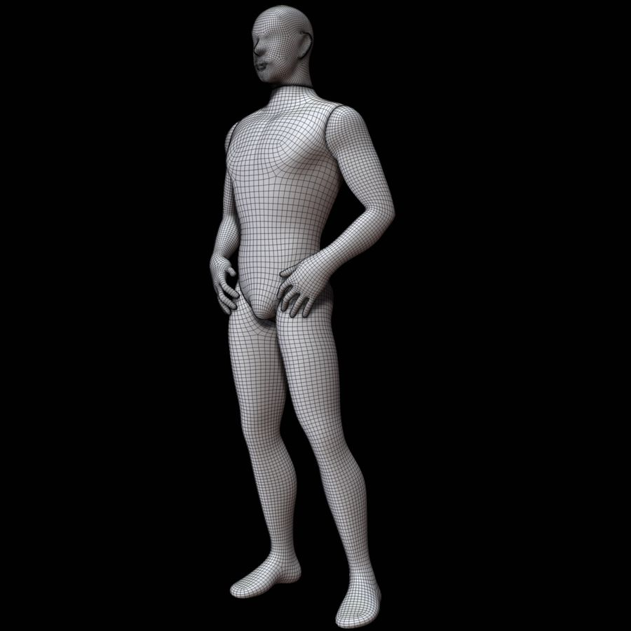 Mannequin homme royalty-free 3d model - Preview no. 20