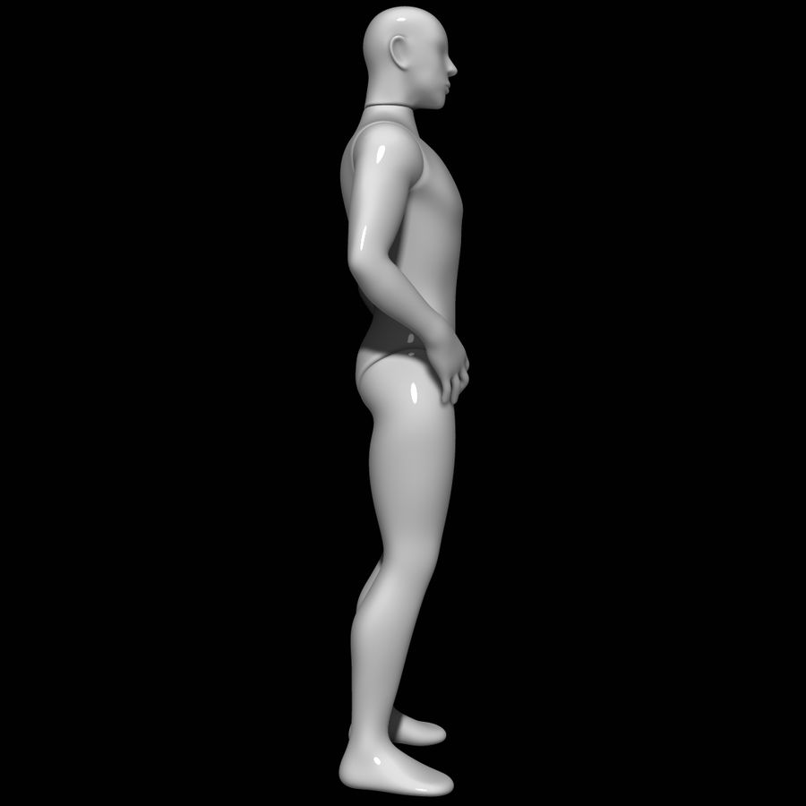 Mannequin homme royalty-free 3d model - Preview no. 3