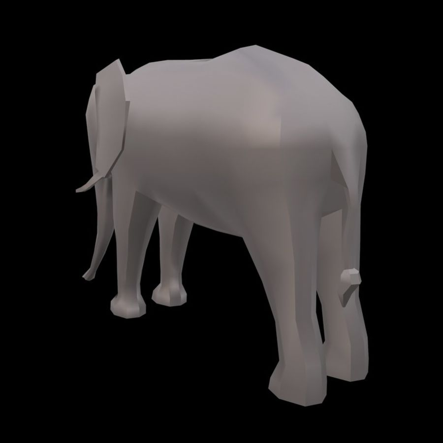 Elephant Low Poly royalty-free 3d model - Preview no. 2