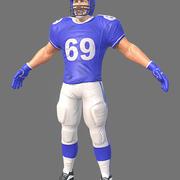 Amerikansk fotbollsspelare 3d model