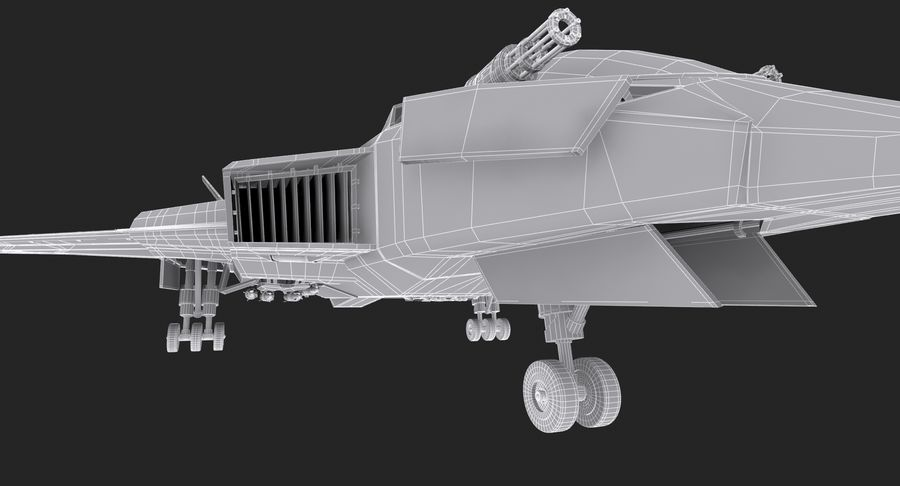 Aircraft  - Space Fighter royalty-free 3d model - Preview no. 24