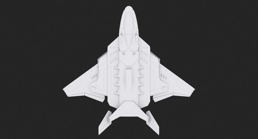 Aircraft  - Space Fighter royalty-free 3d model - Preview no. 9