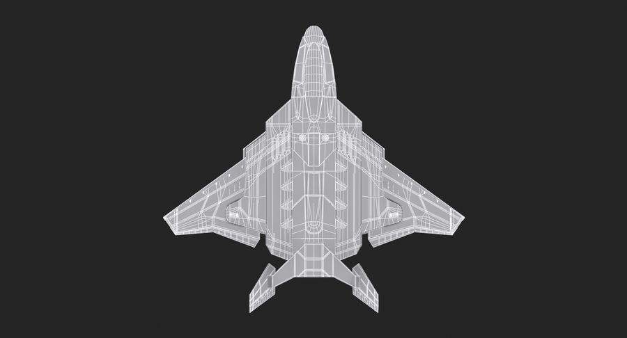 Aircraft  - Space Fighter royalty-free 3d model - Preview no. 19