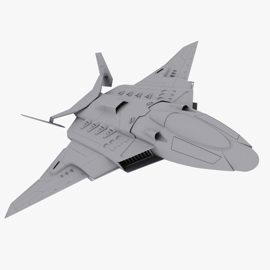 Aircraft  - Space Fighter royalty-free 3d model - Preview no. 1